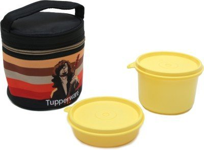 Tupperware Plastic Lunch Box with 2 Containers, Multicolour Lunch Boxes
