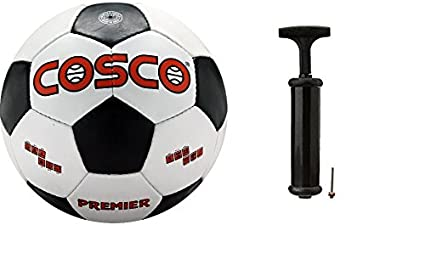 Cosco Premier Football with Hand Pump  Assorted Football Balls