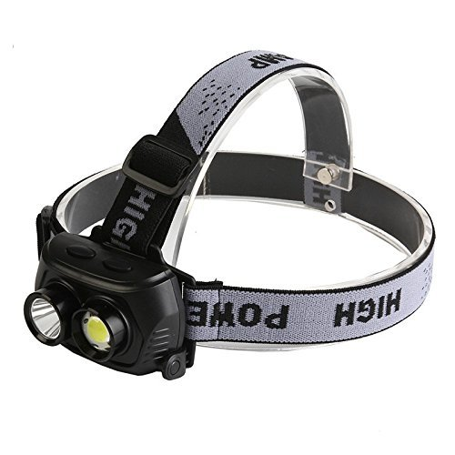 ZIGLY Rechargeable 120 Lumens R5 LED Double LED Headlamp Flashlights