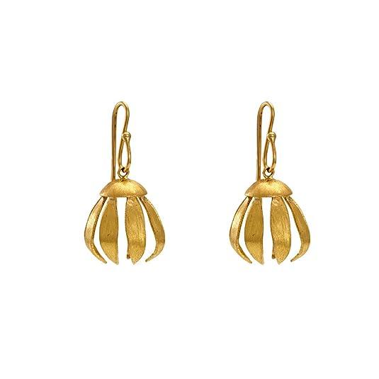 Gehna 18KT Yellow Gold Jhumki Earrings for Women Women