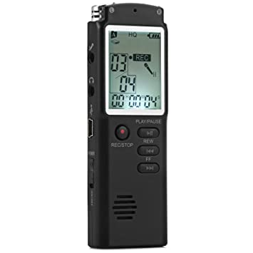 Generic 8 GB High Fidelity rofessional Real Time LCD Display Voice Recorder Dictaphone With MP3 Audio Voice Memo Digital Player Function