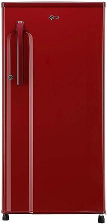 LG 188 L 2 Star Direct Cool Single Door Refrigerator GL B191KPRW.APRZEBN, Peppy Red,Smart Inverter Compressor  Refrigerators