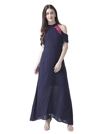 THE VANCA Women's A Line Maxi Dress Dresses