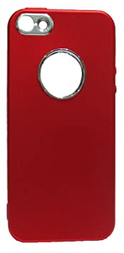 Studoz Apple IPhone 7Plus Camera Middle Lense Soft Red Back Cover Mobile Accessories