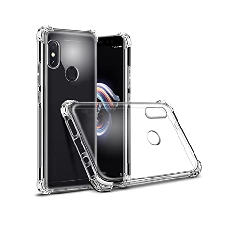 Plus Soft Shockproof Hybrid Protection Back Cover for Xiaomi Redmi Note 5 Pro Transparent  Cases   Covers