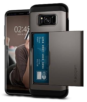 Spigen Slim Armor CS Back Cover Case Designed for Samsung Galaxy S8 Plus   Gunmetal Cases   Covers