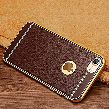 Excelsior Silicon Back case Cover 360 Degree Full Body Protection | Shockproof for Apple iPhone 8 | iPhone 7  Coffee  Mobile Accessories