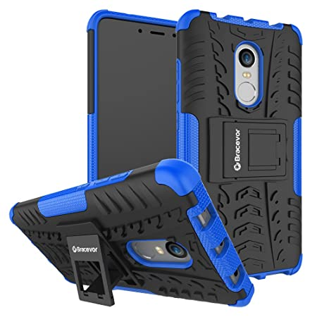 Bracevor XRDN4DKSBU Back Case Cover with Kickstand for Xiaomi Redmi Note 4  Blue  Cases   Covers