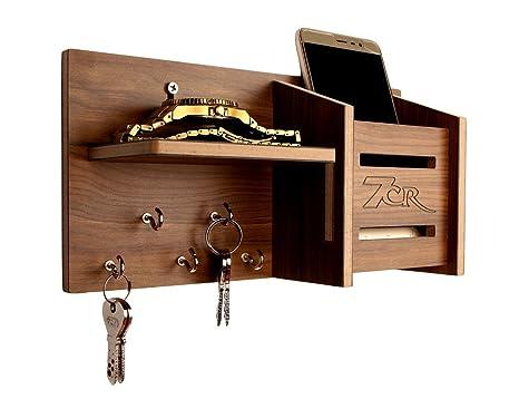 7CR Wooden Key Holder    10.2 x 25.5 cm, Columbian Walnut  Key Holders
