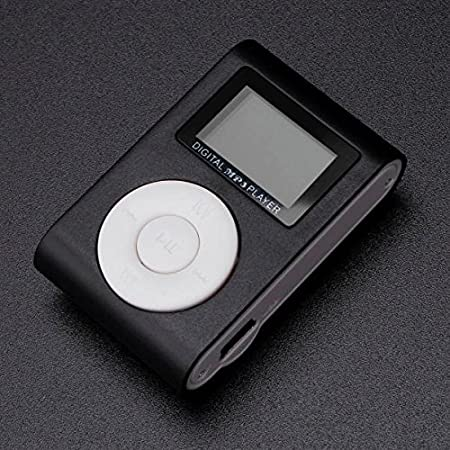 AST Works Mini Lettore MP3 Player Clip USB2.0/1.1 LCD Screen Supporta 32 GB Micro Black Portable Media Players
