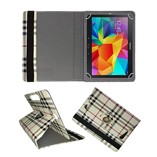 Fastway Rotating 360 deg; Leather Flip Cover for Samsung Galaxy Tab 4 10.1 quot; SM T530  Cream  Cases   Covers