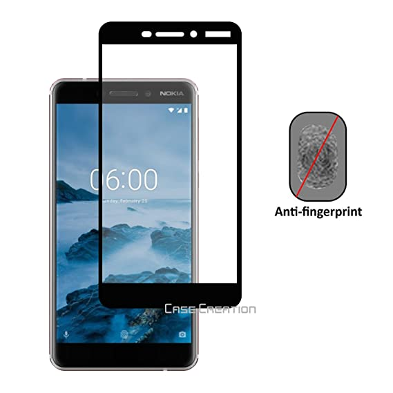 Case Creation Durable Back CoverFor Nokia 6.1  2018   Rich Black Edges  Cases   Covers