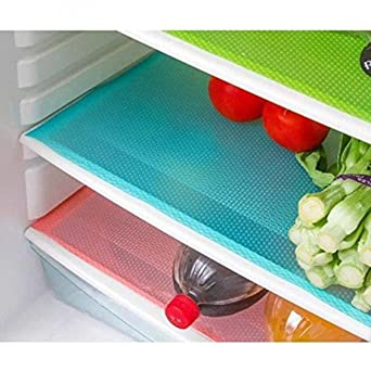 Yellow Weaves Refrigerator Drawer Mats, 13 x 19 IN  Pack Of 6  Multicolor  Refrigerator Parts   Accessories