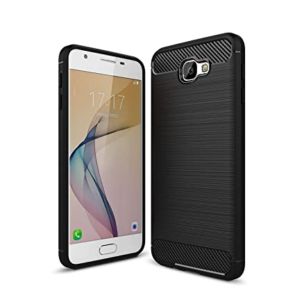 CELLBELL reg; Rugged Armor Back Cover for Samsung Galaxy J7 Prime Midnight Black. Mobile Accessories