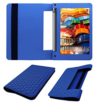Acm Designer Executive Case Compatible with Lenovo Yoga Tab 3 8 Tablet Flip Cover Blue Tablet Accessories