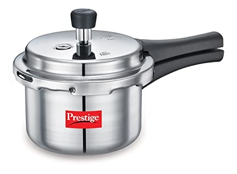Prestige Popular Aluminium Pressure Cooker, 1.5 Litters   Non Induction Base Pressure Cookers