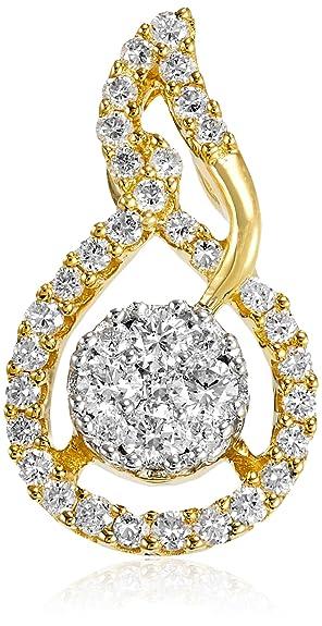 Senco Gold 18KT Yellow Gold and Diamond Pendant for Women Women
