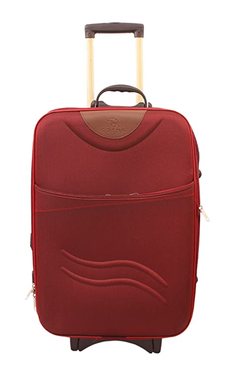 Goyma Stylish Hard Shell Expandable 20 Inches Maroon Color Trolley Bag Luggage
