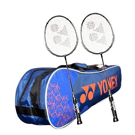 Yonex Kitbag Racquet Badminton Kit  1 SUNR 1005 Badminton Kitbag + 2 GR 303 Badminton Racquet, BLACK  Complete Sets