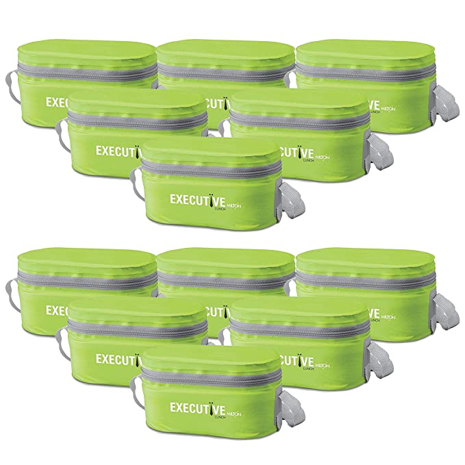 Milton Executive Lunch Box Set of 3 Containers, Green   Pack of 12 Lunch Boxes