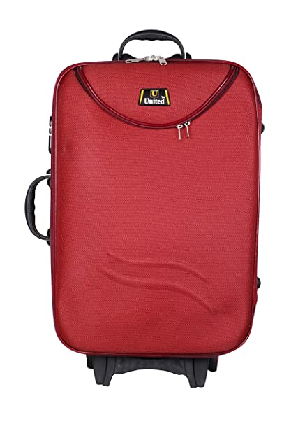 United Bag UTB035 HALF MOON Expandable Trolley Bag   Medium Red  Suitcases   Trolley Bags