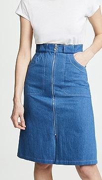 아페쎄 청치마 A.P.C. Jupe Celeste Skirt,Indigo Delave