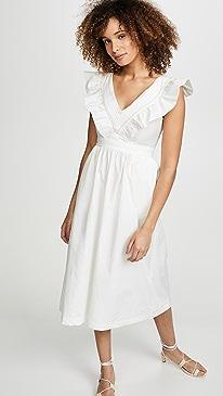 아페쎄 A.P.C. Marty Dress,Blanc Casse