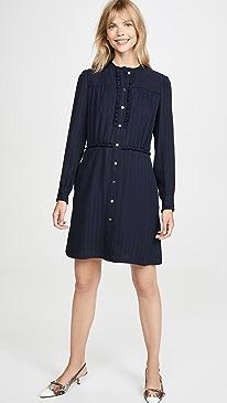 아페쎄 A.P.C. Hoshi Dress,Dark Navy