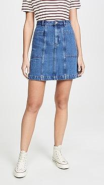 아페쎄 청치마 A.P.C. Jupe Stella Skirt,Indigo Delave