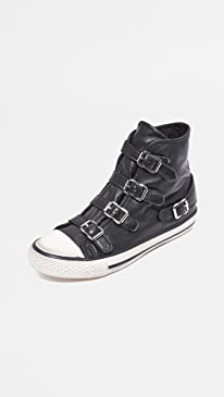 아쉬 버진 하이탑 스니커즈 ASH Virgin Buckled High Top Sneakers,Black