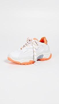 아쉬 어딕트 어글리슈즈 화이트/오렌지/실버 ASH Addict Trainers,White/Fluo Orange/Silver