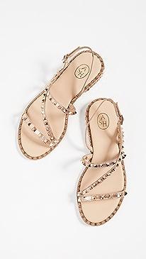 아쉬 플랫 슬링백 샌들ASH Peace Sandals,Rame