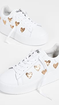 아쉬 큐트 스니커즈 ASH Cute Sneakers,White/Gold