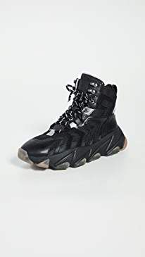 아쉬 애쉬 스니커즈 부츠 ASH Edge Sneaker Boots,Black/Silver/Black