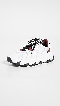 아쉬 익스트림 스니커즈 - 화이트 블랙 ASH Extreme Sneakers,White/White/Black/Bordeaux