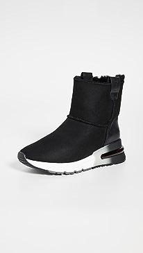 ASH Kyoto Sneaker Boots,Black/Black