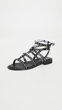 아쉬 샌들 ASH Patchouli Sandals,Black/White/Black