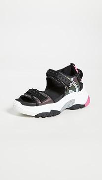 아쉬 샌들 ASH Adapt Sandals,Black