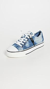 아쉬 비키 비스 스니커즈 (빈티지 워싱 데님 스니커즈) ASH Viki Bis Sneakers,Bleached Jeans Blue