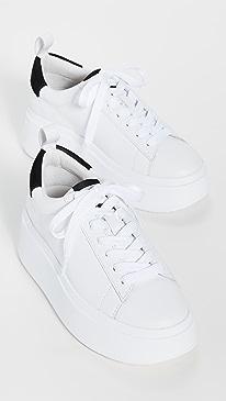ASH Moon Platform Sneakers,White/Black