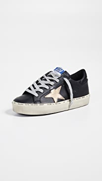 골든구스 Golden Goose Hi Star Sneakers,Black/Gold