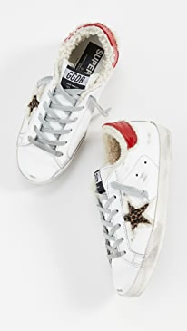 골든구스 Golden Goose Superstar Sneakers,White/Leopard