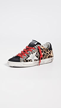 골든구스 Golden Goose Superstar Sneakers,Animalier Patchwork