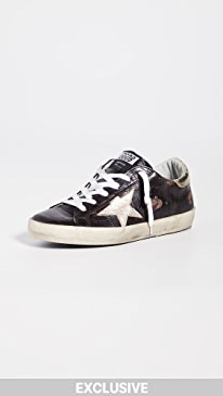골든구스 Golden Goose Superstar Sneakers,Brown Crocco/Gold