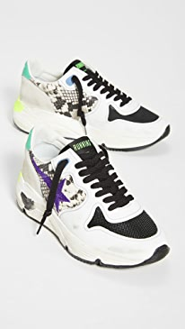 골든구스 Golden Goose Running Sole Sneakers,Natural/Violet