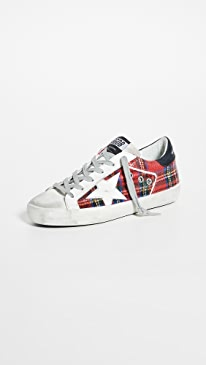골든구스 Golden Goose Superstar Sneakers,Double Check/White