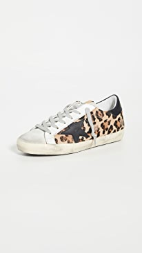 골든구스 Golden Goose Superstar Sneakers,Snow Leopard/Black