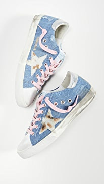 골든구스 Golden Goose Superstar Sneakers,Light Blue Denim/Cow
