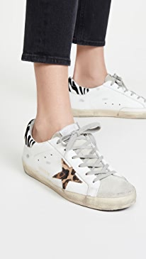 골든구스 Golden Goose Superstar Sneakers,White/Leo/Zigger