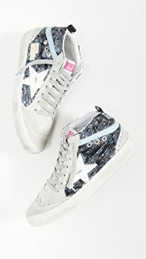 골든구스 Golden Goose Mid Star Sneakers,Multi/White